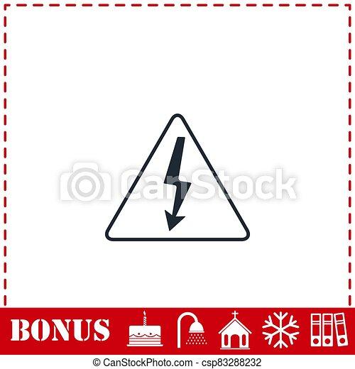 High voltage icon flat - csp83288232