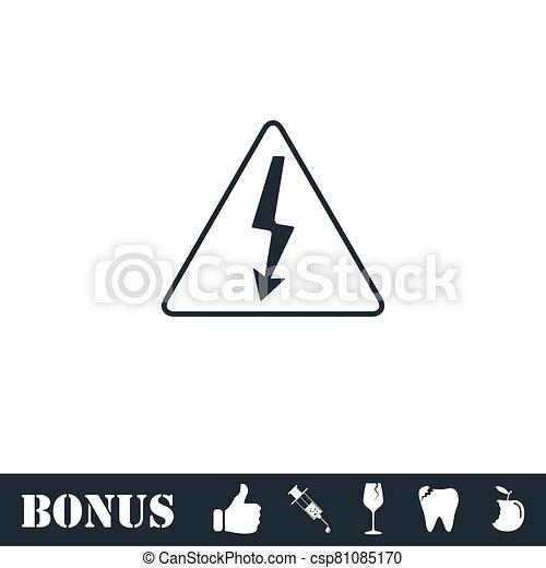 High voltage icon flat - csp81085170