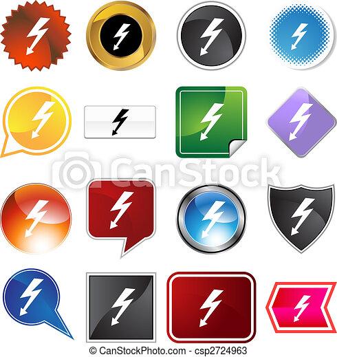 High Voltage Icon Set - csp2724963