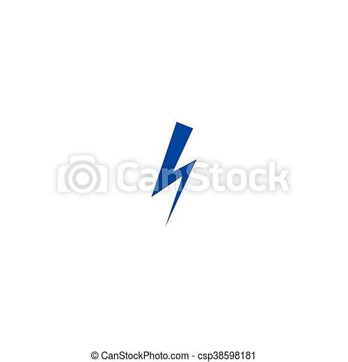 High voltage Icon Vector - csp38598181
