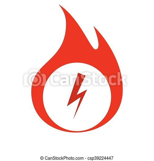 High voltage Icon Vector - csp39224447