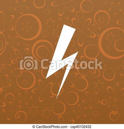 High voltage Icon Vector - csp40102432