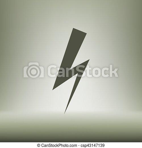 High voltage Icon Vector - csp43147139