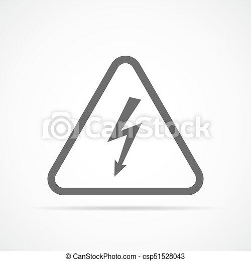 High voltage icon. Vector illustration - csp51528043