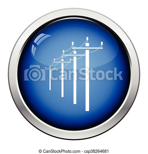 High voltage line icon - csp38264681