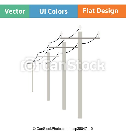 High voltage line icon - csp38047110