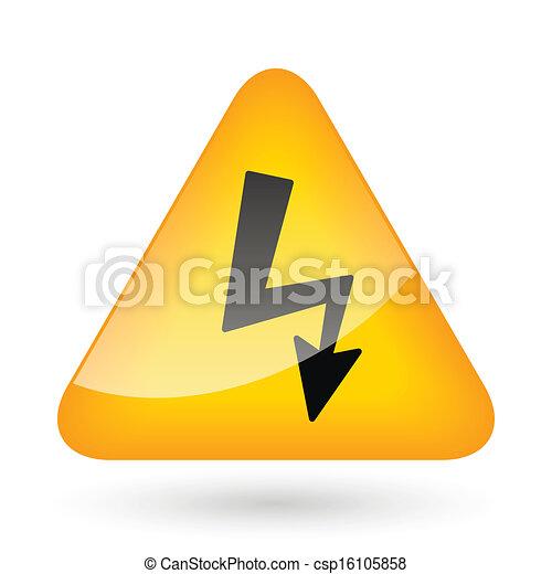 High Voltage Sign - csp16105858