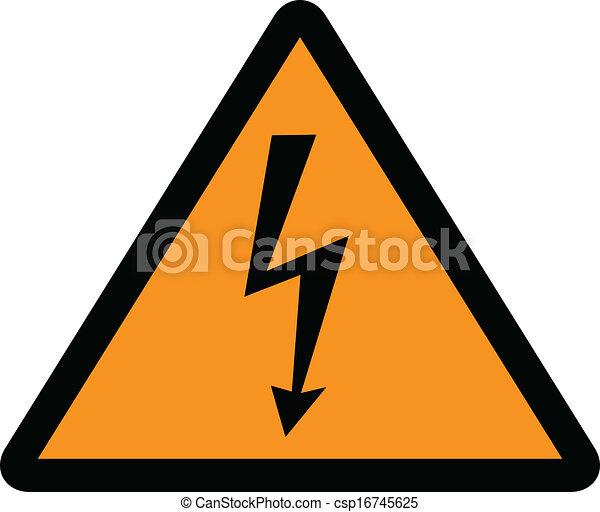 high voltage sign - csp16745625