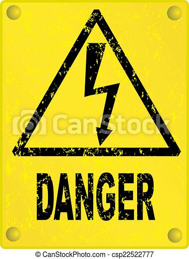 High voltage sign - csp22522777