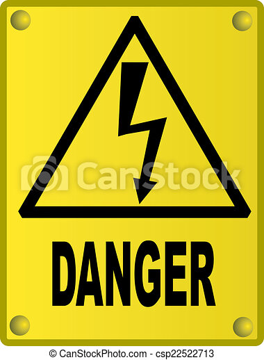 High voltage sign - csp22522713