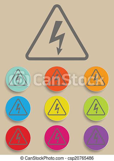 High Voltage Sign - Vector - csp20765486