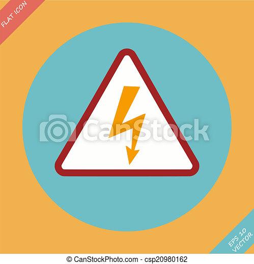 High Voltage Sign - vector illustration. - csp20980162