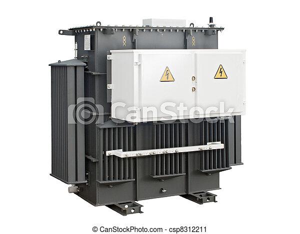 high-voltage transformer on a white background - csp8312211