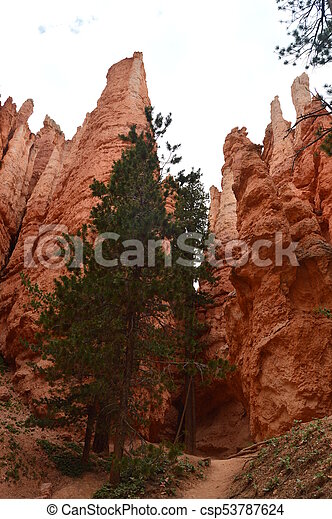 Highest Walls Of Hodes In Bryce Canyon Formations Of Hodes. Geology. Travel. Nature. June 25, 2017. Bryce Canyon. Utah. Arizona. USA EEUU. - csp53787624