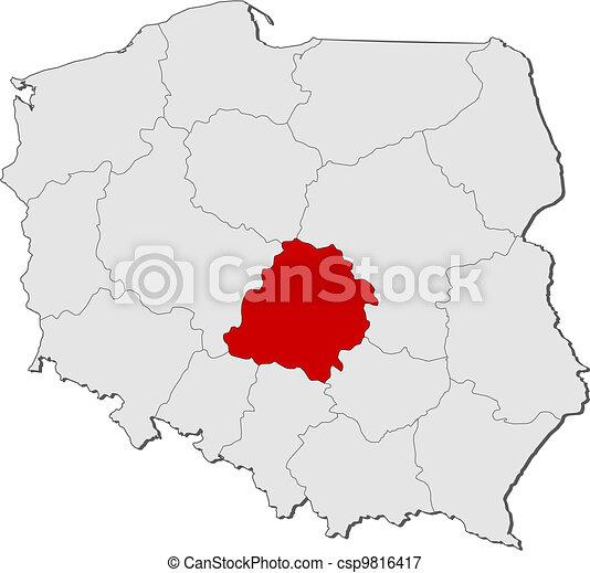 Highlighted Mapa Polska Lodz Mapa Zakresy L Dz Polska