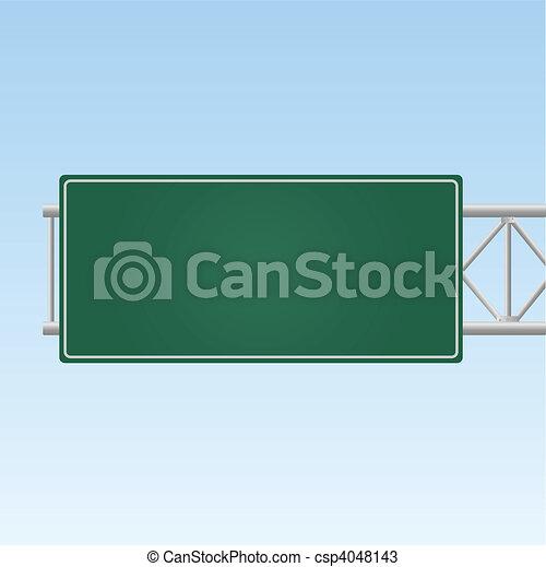 Highway Sign - csp4048143