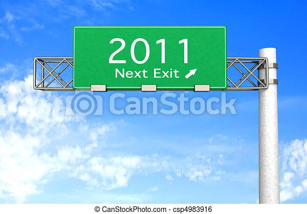 Highway Sign - Next Exit 2011 - csp4983916
