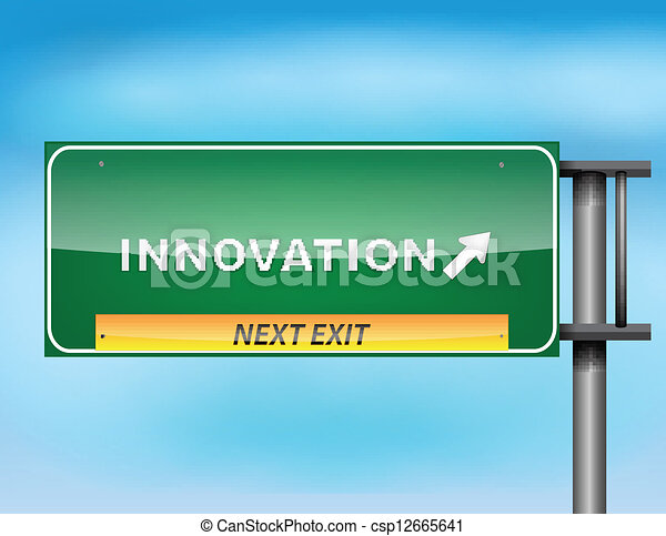 "Highway sign with ""Innovation"" text - csp12665641"