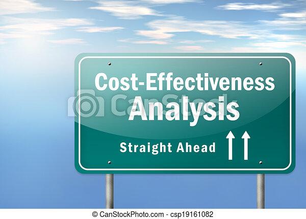 """Highway Signpost """"Cost-Effectiveness Analysis"""" - csp19161082"""