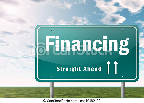 Highway Signpost Financing - csp19482132