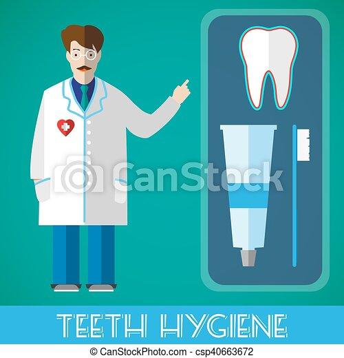 Ilustración de vectores de higiene dental - csp40663672