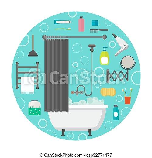 Icones vectores de higiene - csp32771477
