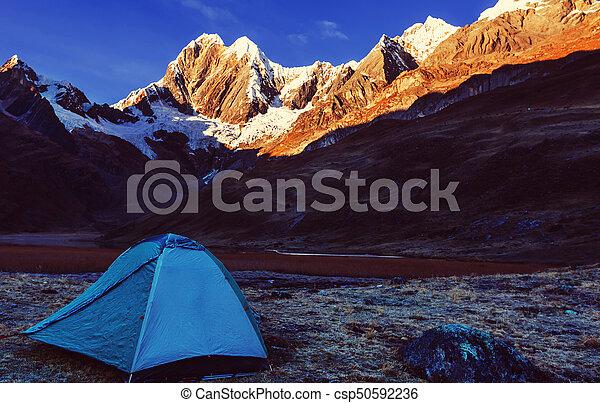 Hike in Peru - csp50592236