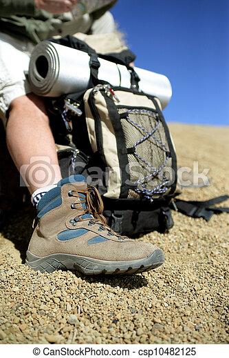 Hiker taking a break - csp10482125