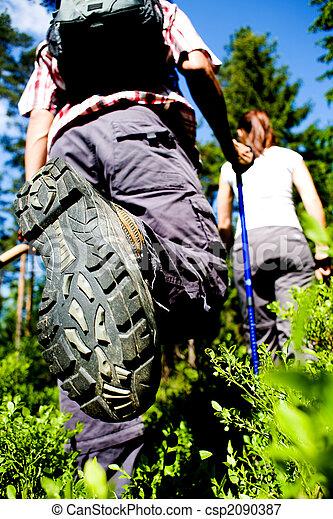 hiking couple - csp2090387