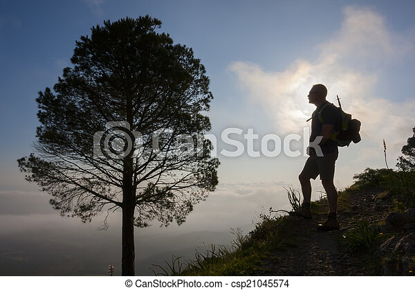 Hiking in the mountain - csp21045574