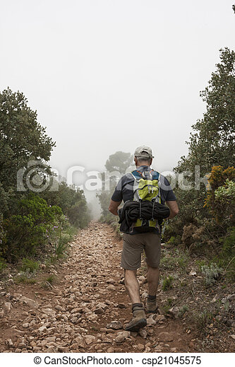 Hiking in the mountain - csp21045575