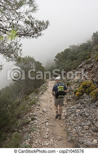 Hiking in the mountain - csp21045576