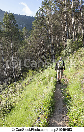 Hiking in the mountain - csp21045463