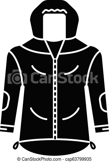 873c44ec72fb Hiking jacket icon, simple style. Hiking jacket icon. simple ...