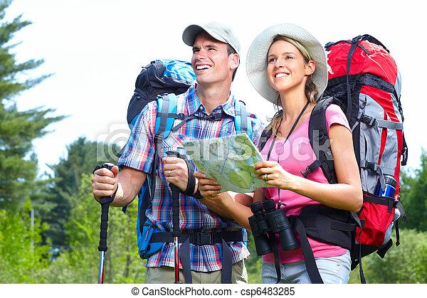 hiking, pessoas - csp6483285