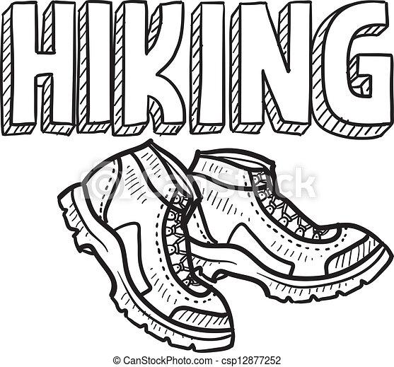 Hiking sketch - csp12877252
