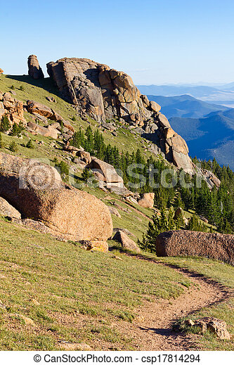 Hiking Trail in the Colorado Rocky Mountains - csp17814294