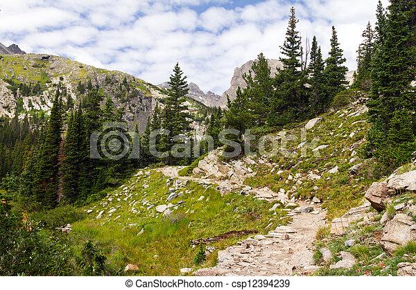 Hiking Trail Through The Colorado Rocky Mountains - csp12394239