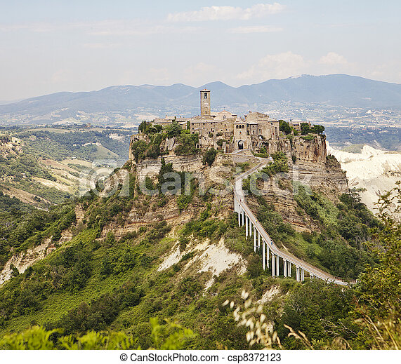 Hill Town Of Civita in Umbria - csp8372123