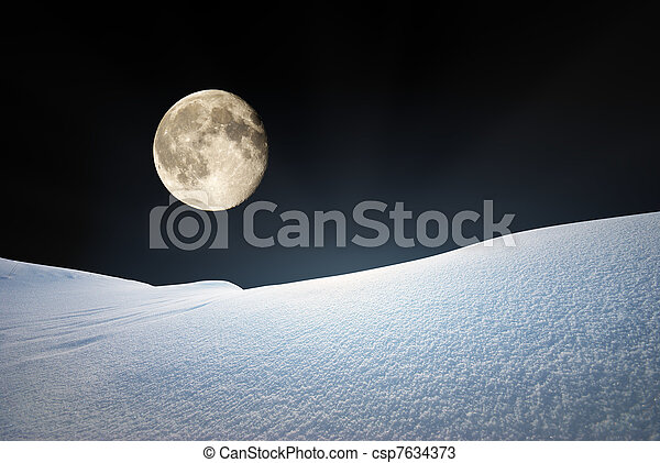 hills., 雪 - csp7634373