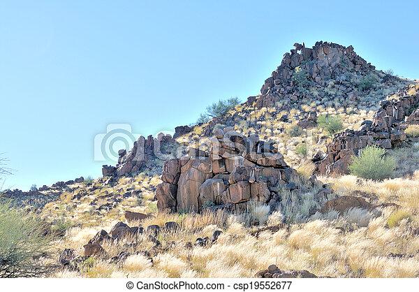 Hills consisting of dolerite boulders - csp19552677