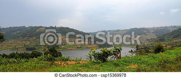 Hills of Lake Bunyoni in Uganda - csp15369978