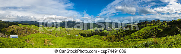 Hills of New Zealand - csp74491686