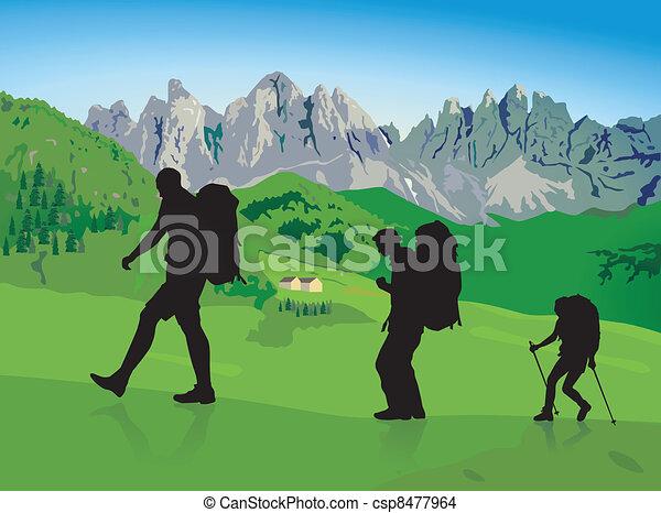 hillwalking - csp8477964