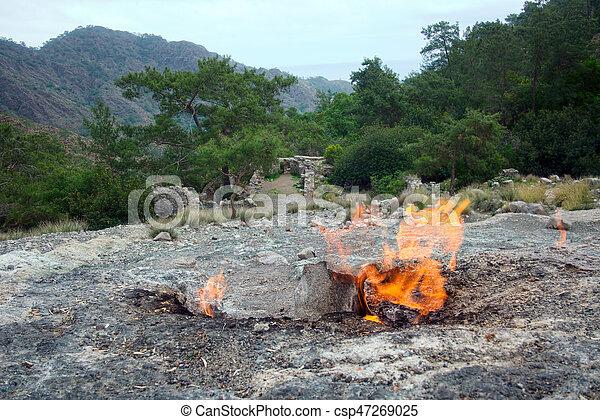 himera, 火, 著名的地方, 方式, lycia - csp47269025