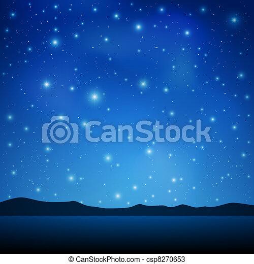himmelsgewölbe, nacht - csp8270653