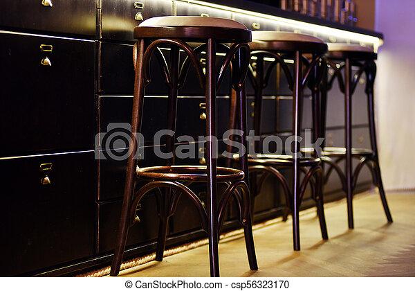 hinder, mysig, restaurang, stol, disk, hög - csp56323170