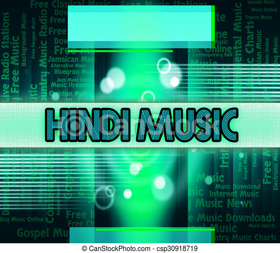 Hindi Music Means Sound Track And Audio