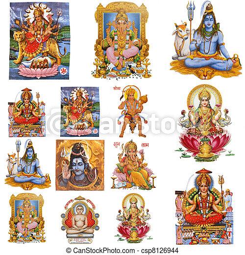 hindou, composition, dieux - csp8126944