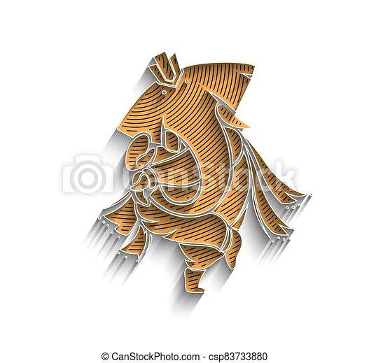 Hindu God Ganesha - elephant. Vector hand drawn illustration. - csp83733880